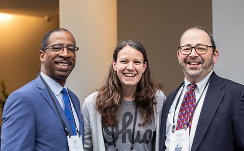 Three attendees at the 2019 OhioLINK Annual Summit