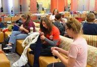 Students Knitting at Kent State