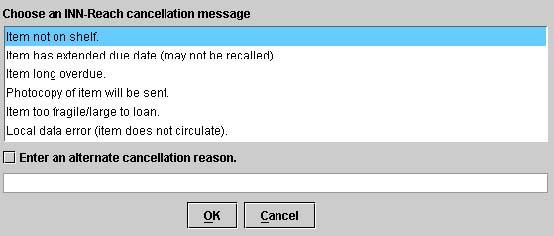 Cancellation Reason