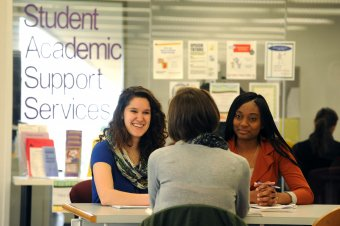 Defiance College Students Studying